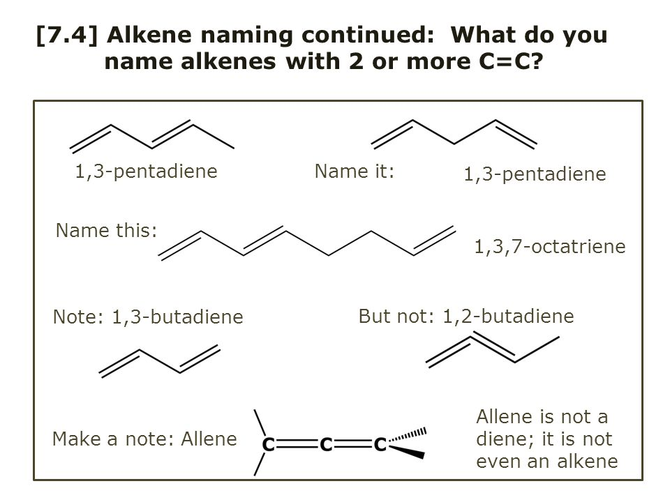 [7.4] Alkene naming continued: What do you